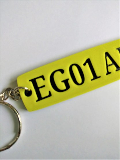 Numberplate keyring / car registration