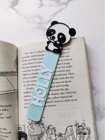 Panda themed bookmark