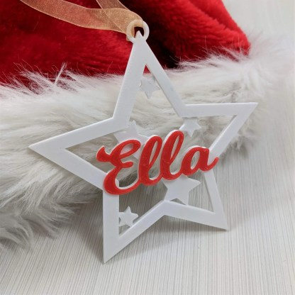 Christmas tree decoration - star with name