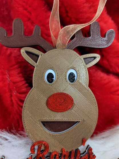 Christmas tree decoration - reindeer first christmas