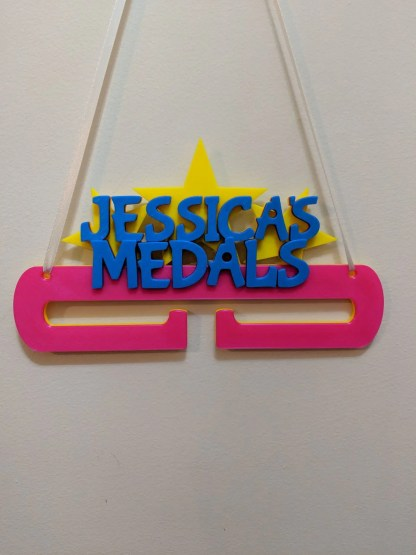 Personalised Medal holder - various colours