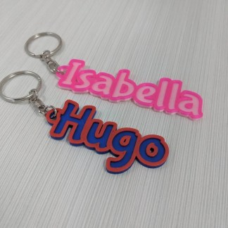 multi-colour thin personalised keyring