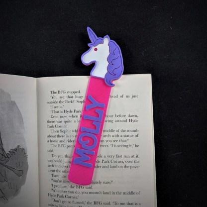 Personalised Unicorn bookmark 3