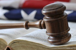 Chicago social security law firm gavel book and flag