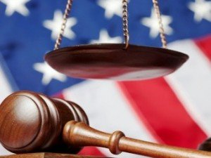 Chicago Social Security Lawyers flag and gavel