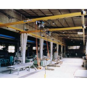 Overhead suspended lifting system