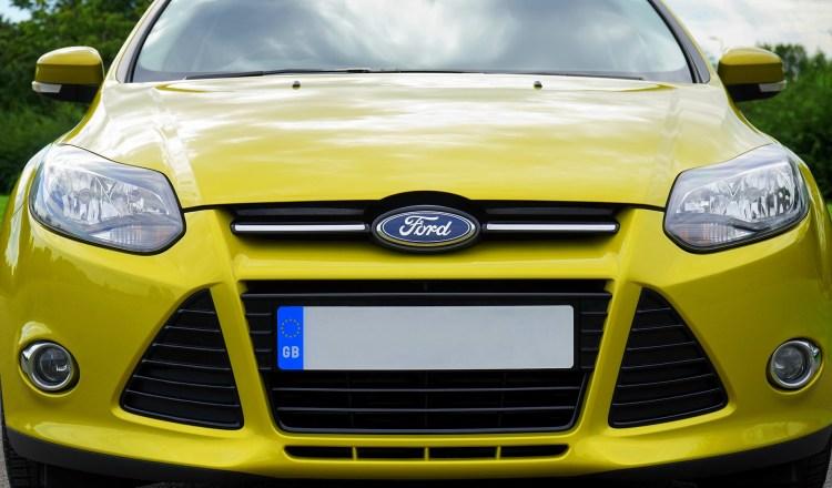 Yellow Ford Car GB