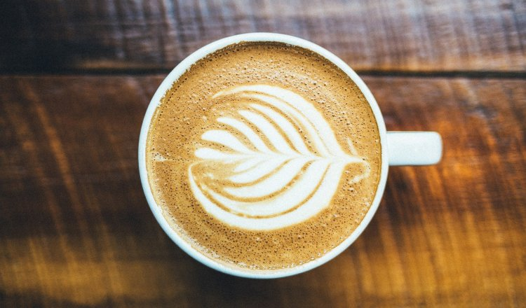 Coffe with a heart shape