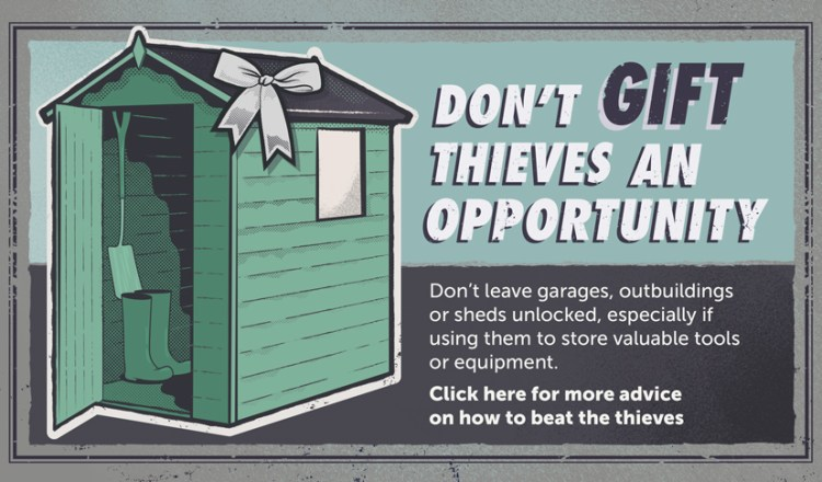 Dont' Gift Thieves with items in your shed
