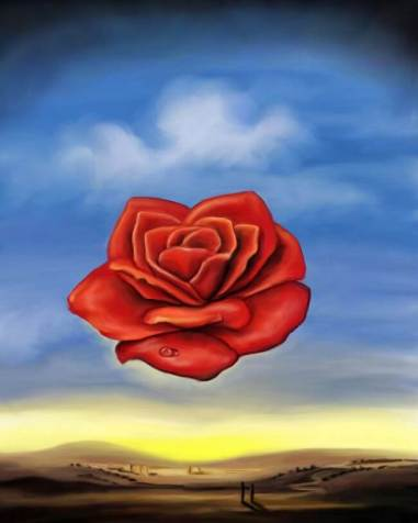 Image result for red rose in a sacred well painting