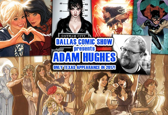 BETTY & VERONICA artist Adam Hughes only 2017 Texas appearance at DCS Feb 11-12!