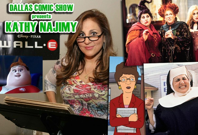 KING OF THE HILL, SISTER ACT and HOCUS POCUS star Kathy Najimy comes to DCS Feb 11-12!