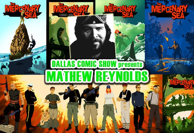 Image Comics' THE MERCENARY SEA artist Mathew Reynolds comes to DCS Feb 11-12