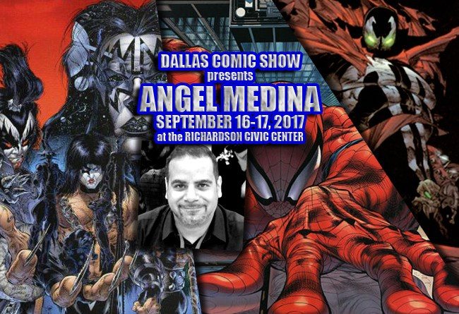 SPAWN, VENOM and SPIDER-MAN artist Angel Medina comes to DCS Sept 16-17