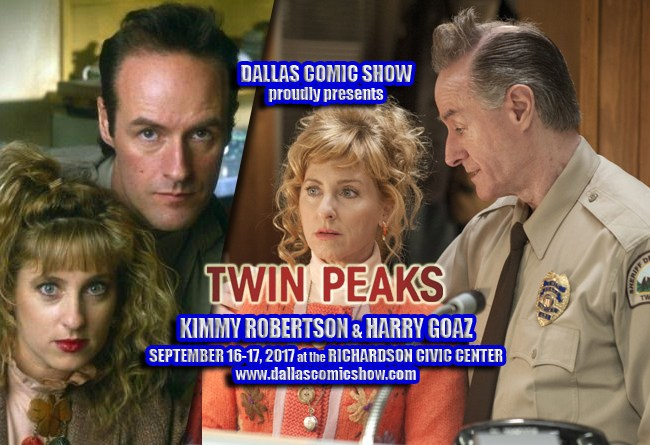 TWIN PEAKS stars Kimmy Robertson & Harry Goaz come to DCS Sept 16-17!
