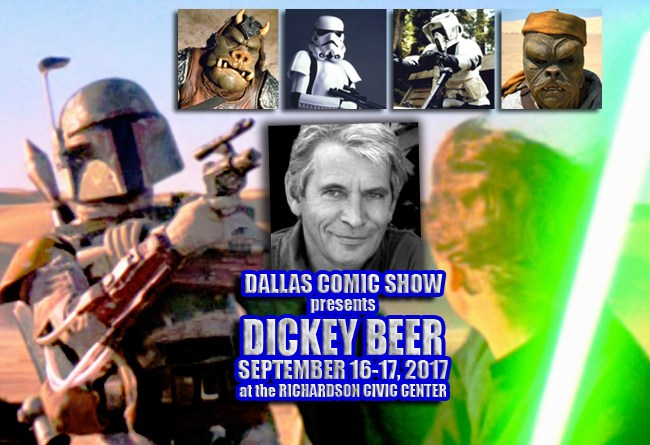 "STAR WARS ""Boba Fett"", 007 and INDIANA JONES master stuntman Dickey Beer comes to DCS Sept 16-17"