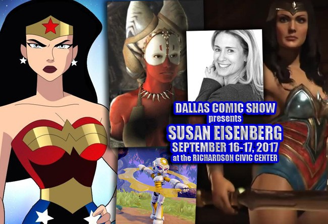 Susan Eisenberg – The voice of WONDER WOMAN comes to DCS Sept 16-17