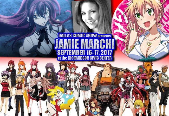 Anime voice actress extraordinaire (HIGH SCHOOL DxD, WITCHBLADE) Jamie Marchi comes to DCS Sept 16-17
