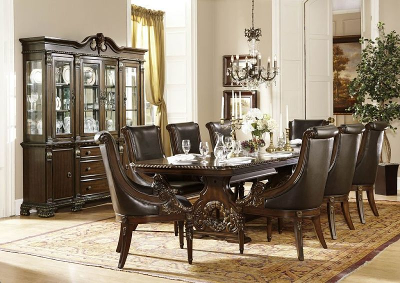 Dallas Designer Furniture Orleans Formal Dining Room Set