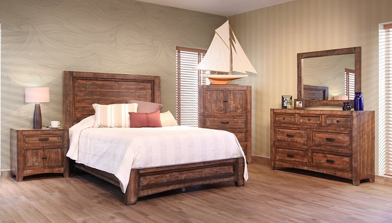 IFD Furniture 2020 Porto Rustic Bedroom Set Dallas Designer Furniture