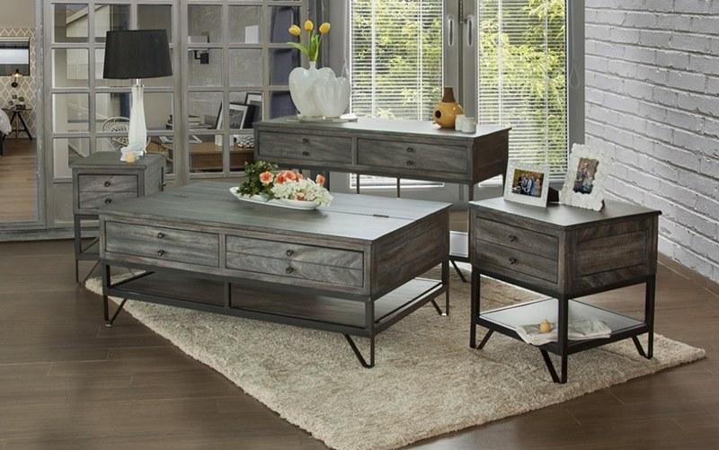 ifd furniture 686 moro rustic coffee table set dallas designer furniture
