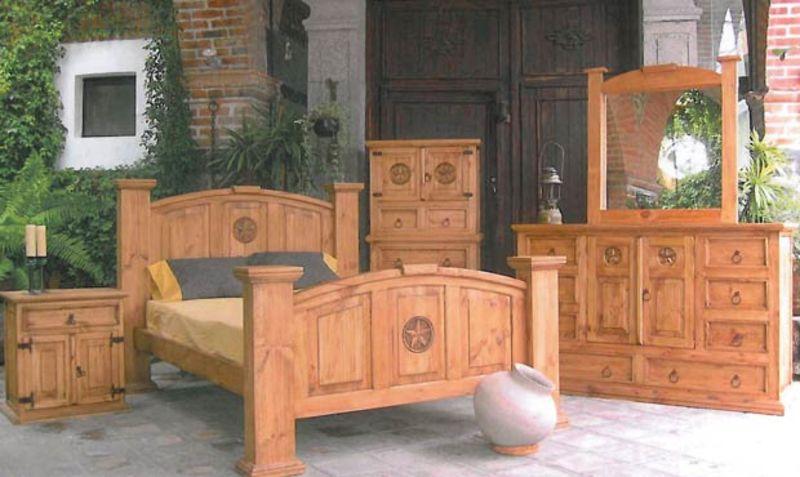 Dallas Designer Furniture Mansion Rustic Bedroom Set With Hidden Gun Storage
