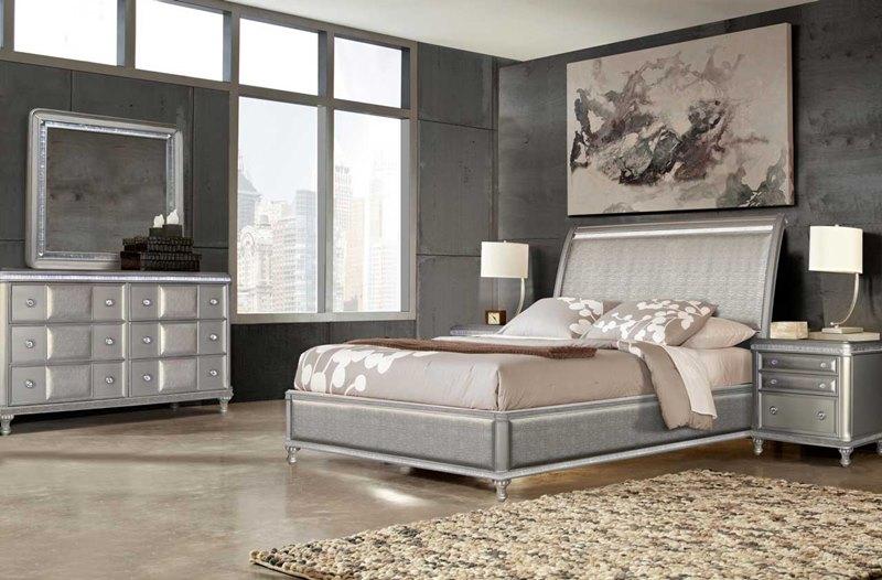 Steve Silver Re306ss Midtown Bedroom Set In Platinum