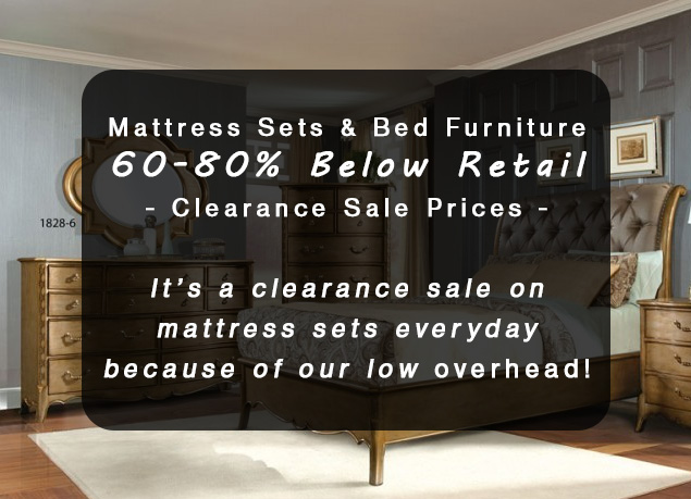 Mattress Sets Bed Furniture At 60 80 Below Retail Warehouse Clearance Prices