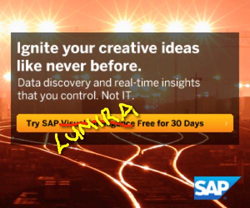Goodbye SAP Visual Intelligence, Hello SAP Lumira