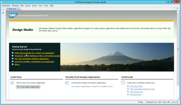 SAP Design Studio 1.3 Welcome