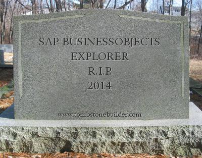 SAP BusinessObjects Explorer, R.I.P.