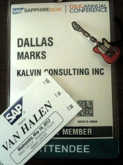 SAPPHIRE 2012 Kalvin Van Halen Badge