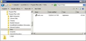 Putty Program Files