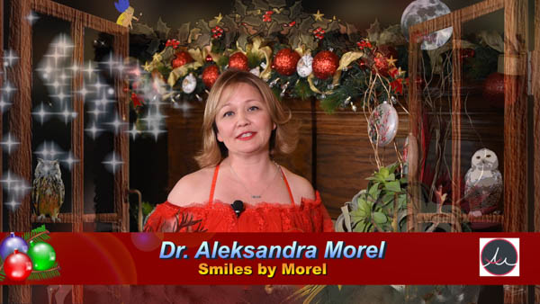 "HAPPY WINTER HOLIDAYS FROM DR. ALEKSANDRA MOREL 🎄 ""Hello! This is Aleksandra Morel from Smiles By Morel. 🎄 I'm here, as every year's tradition with The Dallas Telegraph that we all love — to wish you a Merry Christmas, Happy New Year, Happy Hanukkah, Happy Winter Holidays. 🎄 This year I want to talk to you about something a little bit different. I wanted to talk to you about Adversity. It could be a question in your mind, ""why does she want to talk about adversity, during such a happy season?"" 🎄 I want to talk about it, because I believe that all of us face difficulties at some point in our lives, and that my personal believe that you can overcome difficulties by looking for a Role Model. 🎄 Just watch the message…"""
