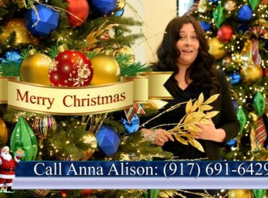 Anna Alison of Sam Pack's Five Star Ford Dallas Christmas 2020 Greeting English