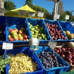 Bins of fruits and vegetables at our Farmers Market