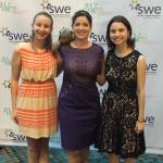 Shelley Stracener (center) with our SWE Region C Turtle Mascot SMU students Jordan Kayse and Allison Garza