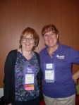 Dallas SWE President Barbara Read and Carol Bachman from Fort Worth SWE