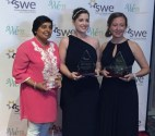 Dallas SWE individual award winners Nandika D'Souza, Ph.D, Shelley Stracener, and Kate Van Dellen