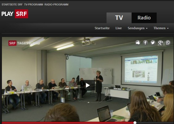 SRF Tagesschau in der Klasse CAS E-Commerce & Online-Marketing von Prof. Dalla Vecchia