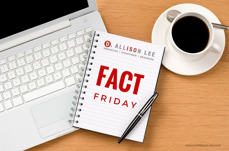 Fact Friday Productivity Statistics DAllisonLee.com