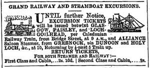 Alliance Railway August 27 1858