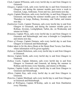 Greenock Directory 1817