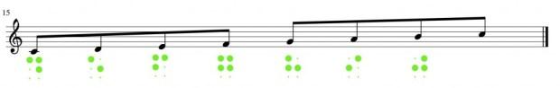 Musik: Achtelnoten in Braille