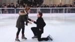 Különleges lánykérés, eljegyzés a jégen