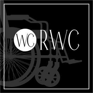 Skylt, RWC Toalett, svart, piktogram