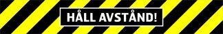 Golvdekal, håll avstånd, gul/svart