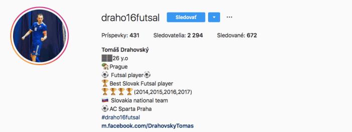 Tomáš Drahovský futsal dalsomto