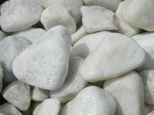 White Gilt Cobble and Pebble