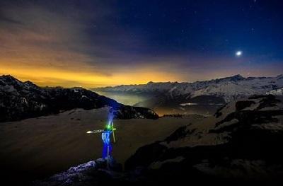 foto campiglio ski team notturna